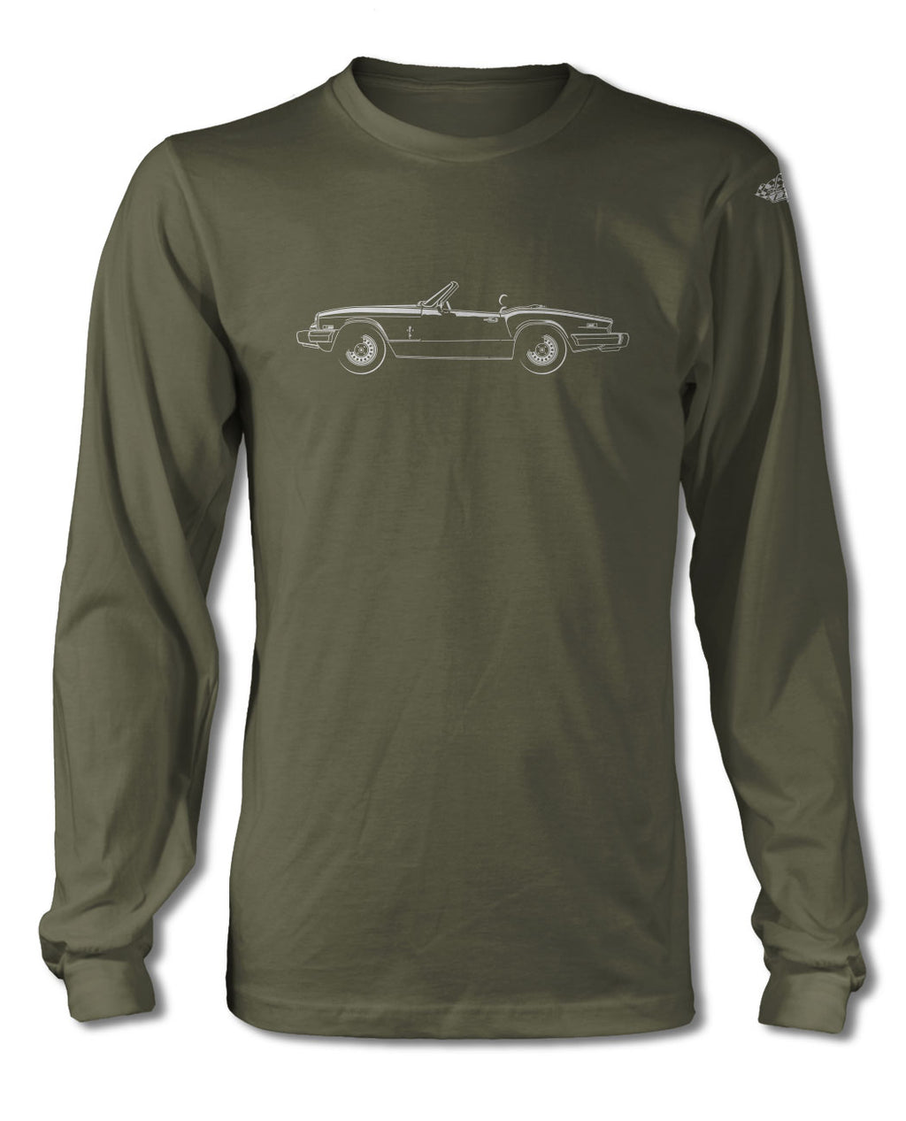 Triumph Spitfire 1500 S2 Convertible T-Shirt - Long Sleeves - Side View