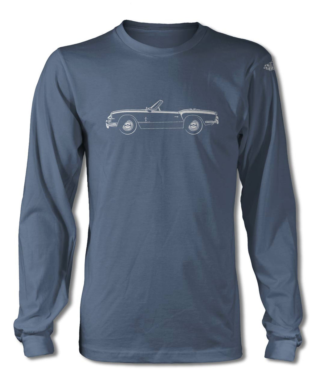 Triumph Spitfire MKI MKII Convertible T-Shirt - Long Sleeves - Side View