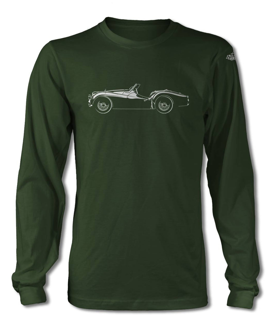 Triumph TR2 TR3 Convertible T-Shirt - Long Sleeves - Side View