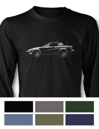 Triumph TR8 Coupe Long Sleeve T-Shirt - Side View