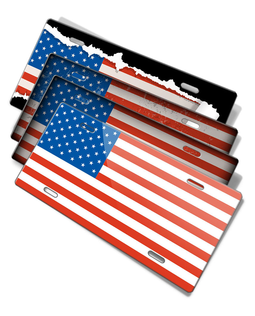 American Flag Novelty License Plate