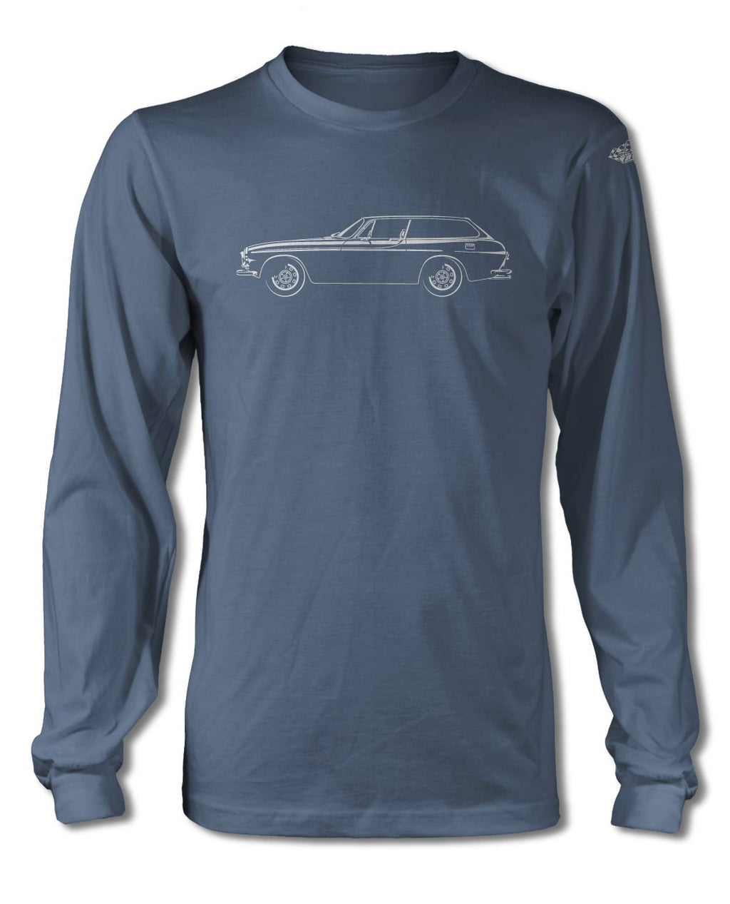 Volvo 1800ES Station Wagon T-Shirt - Long Sleeves - Side View
