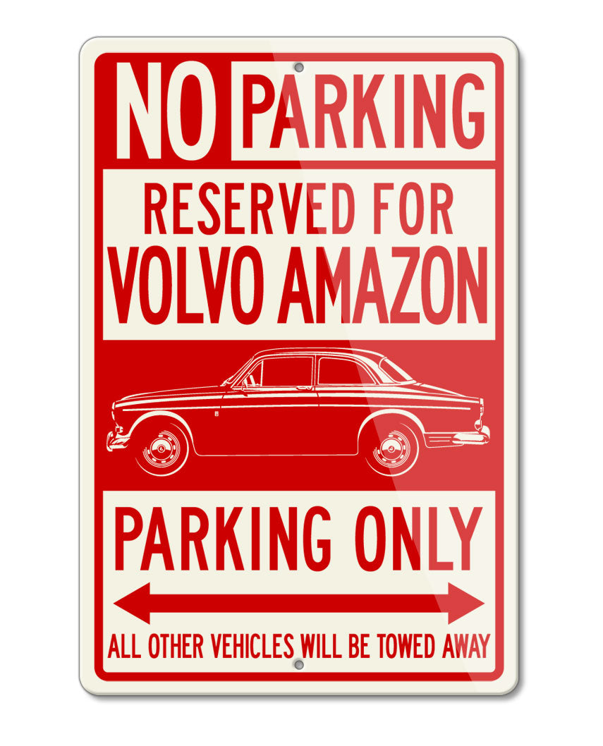Volvo P120 P122S Amazon Coupe Reserved Parking Only Sign