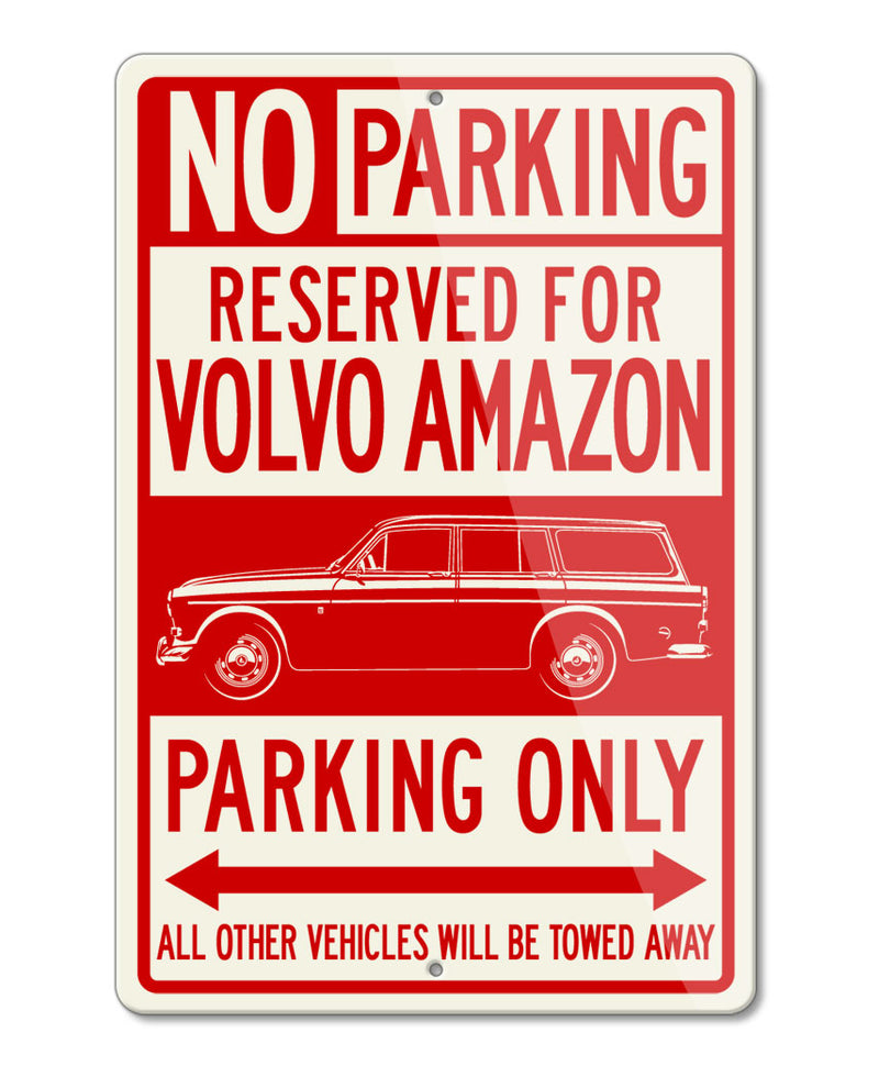 Volvo P210 P220 Amazon Station Wagon Reserved Parking Only Sign