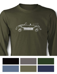 Volkswagen Beetle Convertible Long Sleeve T-Shirt - Side View
