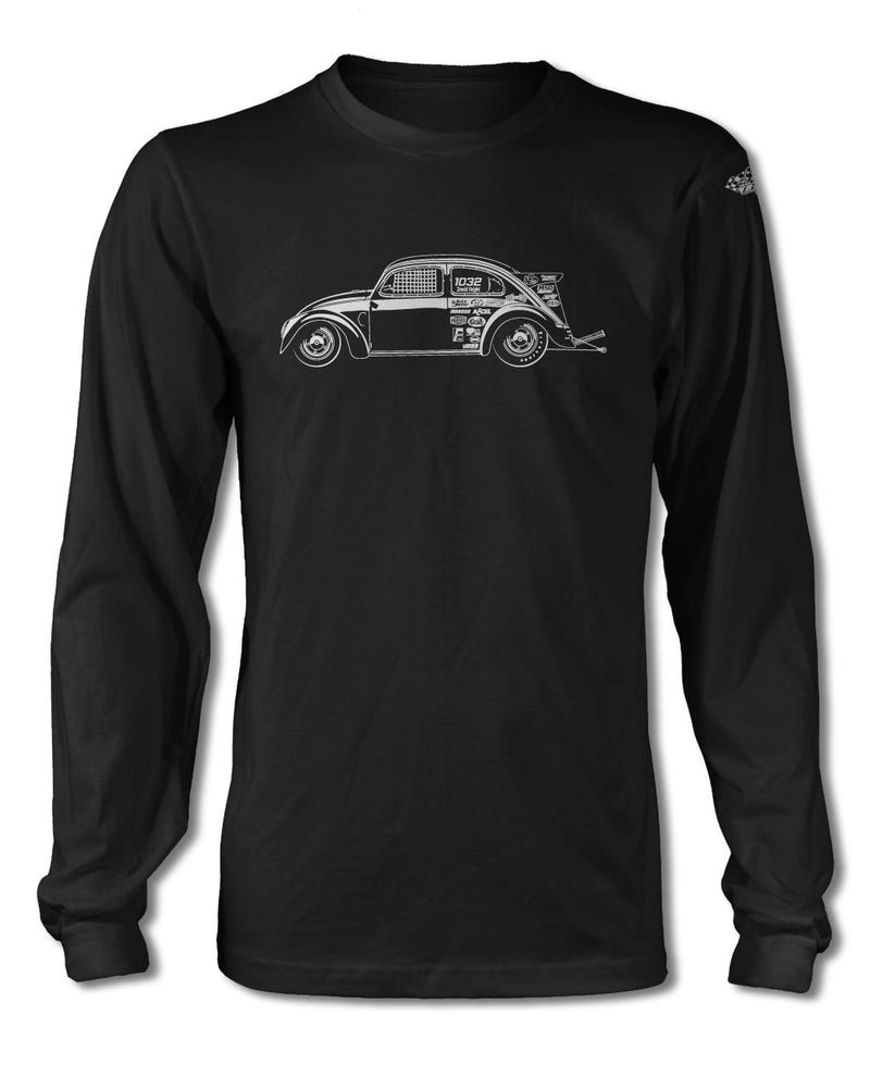 "Volkswagen Beetle ""Dragster"" T-Shirt - Long Sleeves - Side View"
