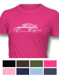 "Volkswagen Beetle ""Dragster"" Women T-Shirt - Side View"