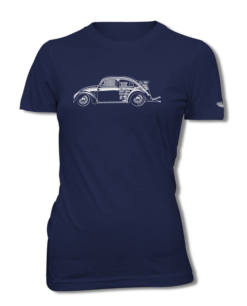 "Volkswagen Beetle ""Dragster"" T-Shirt - Women - Side View"