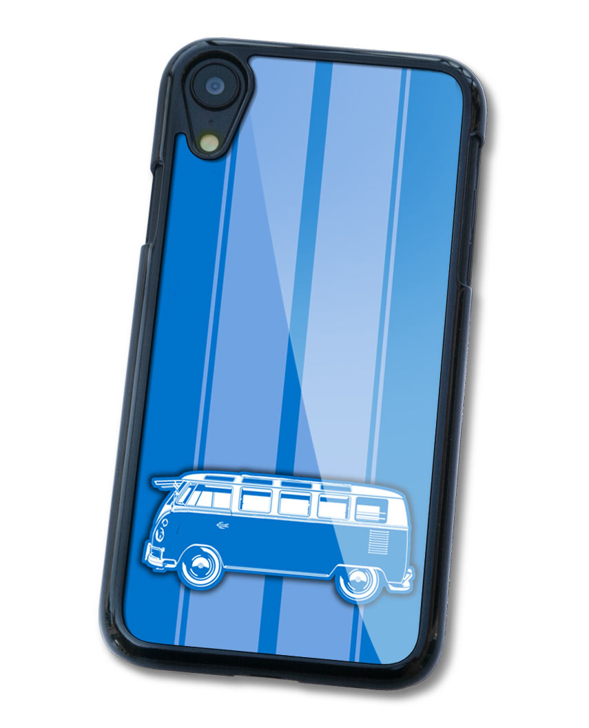 Volkswagen Kombi Bus Samba 21 windows Smartphone Case - Racing Stripes