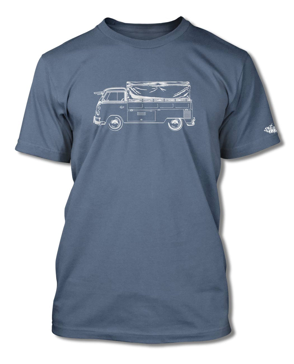 Volkswagen Kombi Utility Pickup Covered Bed T-Shirt - Men - Side View