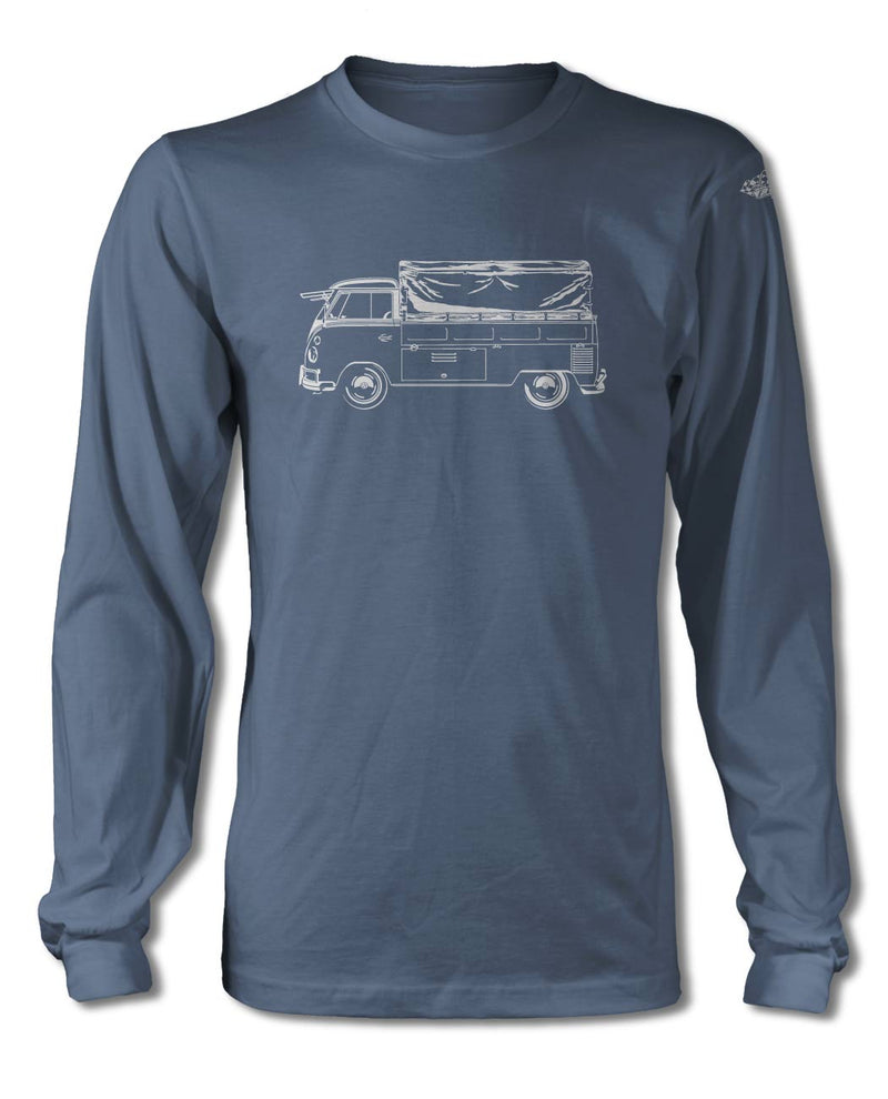 Volkswagen Kombi Utility Pickup Covered Bed T-Shirt - Long Sleeves - Side View