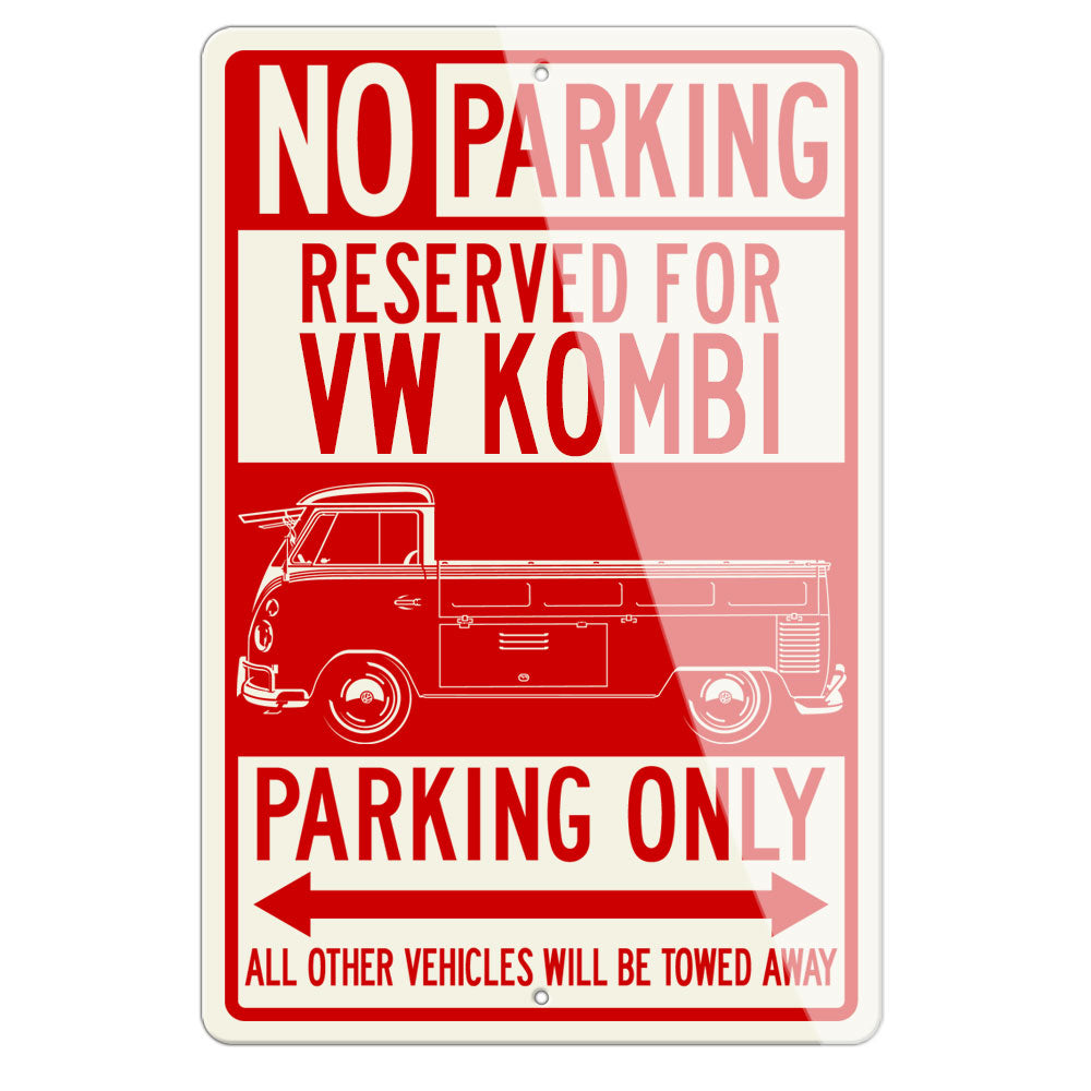 Volkswagen Kombi Utility Pickup Open Bed Reserved Parking Only Sign