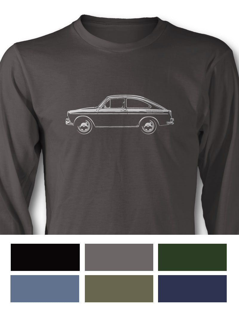 Volkswagen Type 3 Fastback 1600TL Long Sleeve T-Shirt - Side View