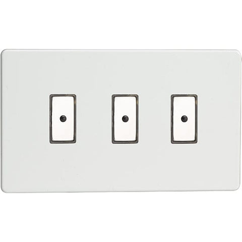 Varilight 3-Gang V-Pro Eclique2 Touch/Remote Control LED Dimmer - Premium White - JDQE103S