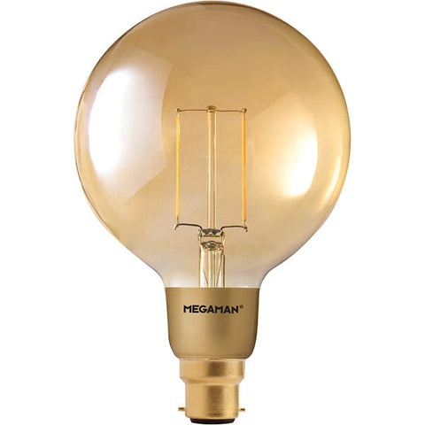 Megaman 3W LED BC B22 Globe Very Warm White Dimmable - 146394