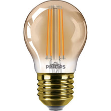 Philips CLA LEDLuster 5w LED ES/E27 Golf Ball Amber Warm White Dimmable - 81441300