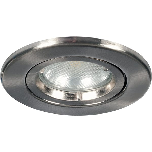 Megaman LEORA GU10 Fire Rated Fixed Downlight - Fixture Only (Satin Chrome)