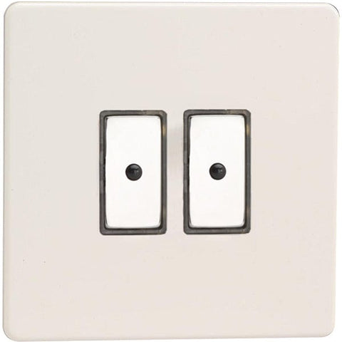 Varilight 2-Gang V-Pro Eclique2 Touch/Remote Control LED Dimmer - Premium White - JDQE102S