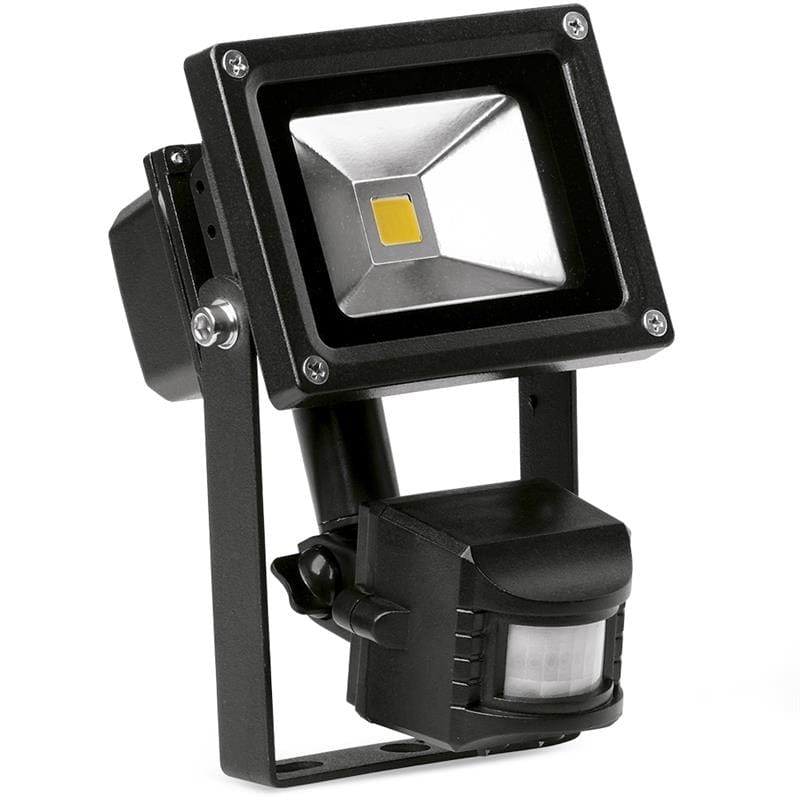 Enlite 10W Adjustable IP65 LED Floodlight with PIR Sensor - EN-FL10PIRA/40