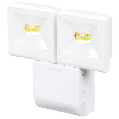 Timeguard White Twin 10W LED PIR Floodlight - Cool White - LED200PIRWHE