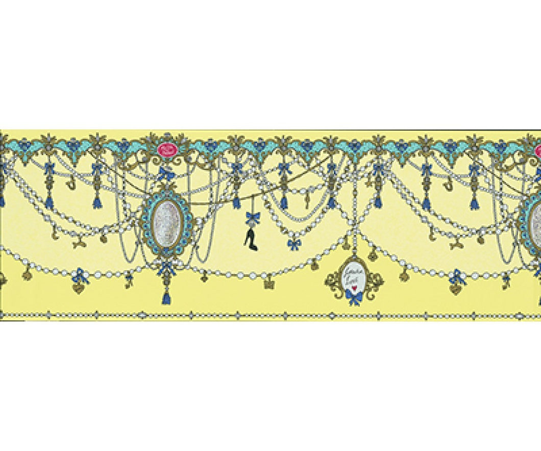 Ornamental Charms Swags Yellow 0097-03 Wallpaper Border