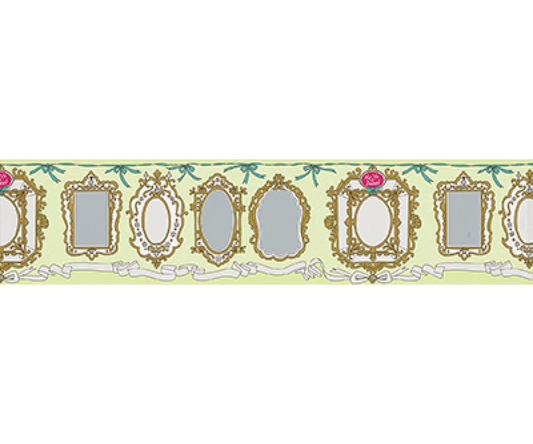 Mirror Frames Green 0098-07 Wallpaper Border