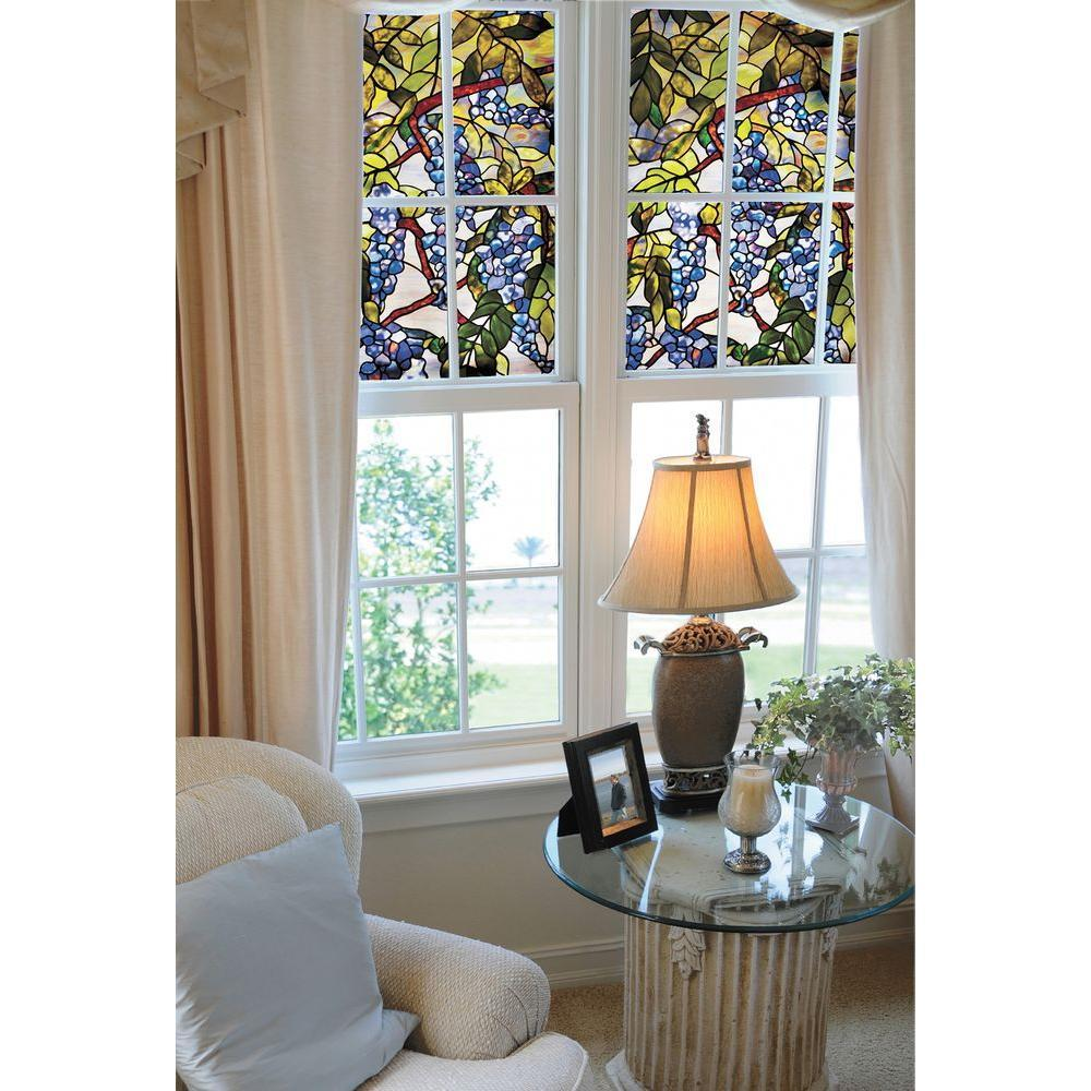 Wisteria Stained Glass Window Film