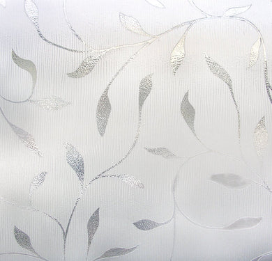 Etched Leaf Large Textured Window Film 36