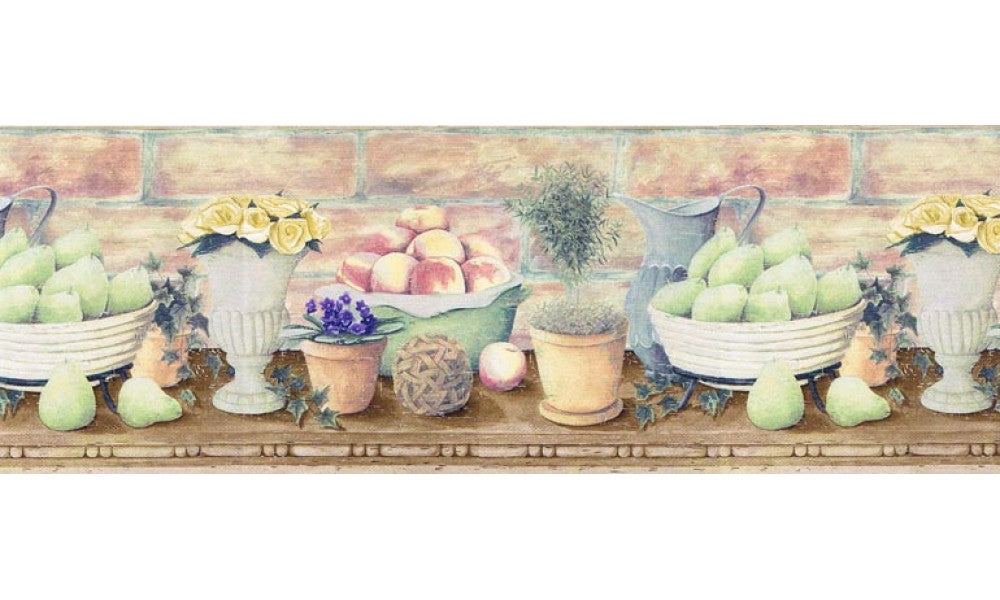 Fruits and Flowers B830225 Wallpaper Border