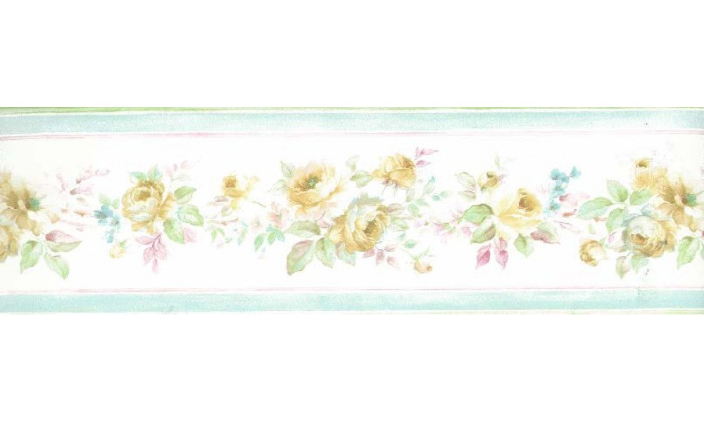 Yellow Floral Roses PP79050 Wallpaper Border