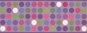 Colorful Circles Mauve Purple WK9383B Wallpaper Border