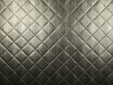 Backsplash Tile Mini Quilted Crosshatch Silver