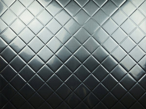 Backsplash Tile Mini Quilted Brushed Aluminum