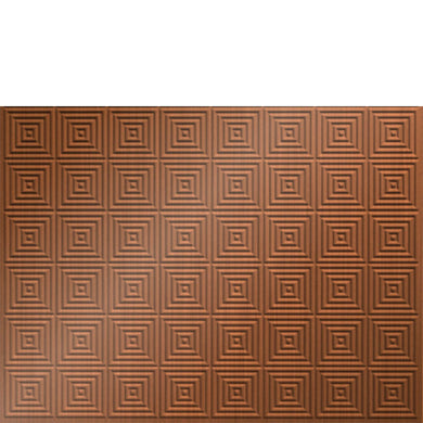 Backsplash Tile Mini Quadro Brushed Copper