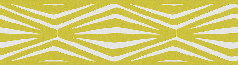 Graphic Geometric Lemon Green Metallic 943828 Wallpaper Border