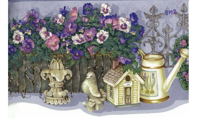 Lavender Flower Garden Set SMBDC5248 Wallpaper Border