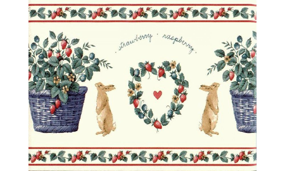 Rabbits SG2124B Wallpaper Border