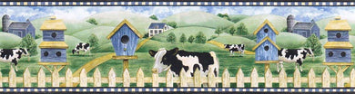 Cows  Farm AFR7122 Wallpaper Border