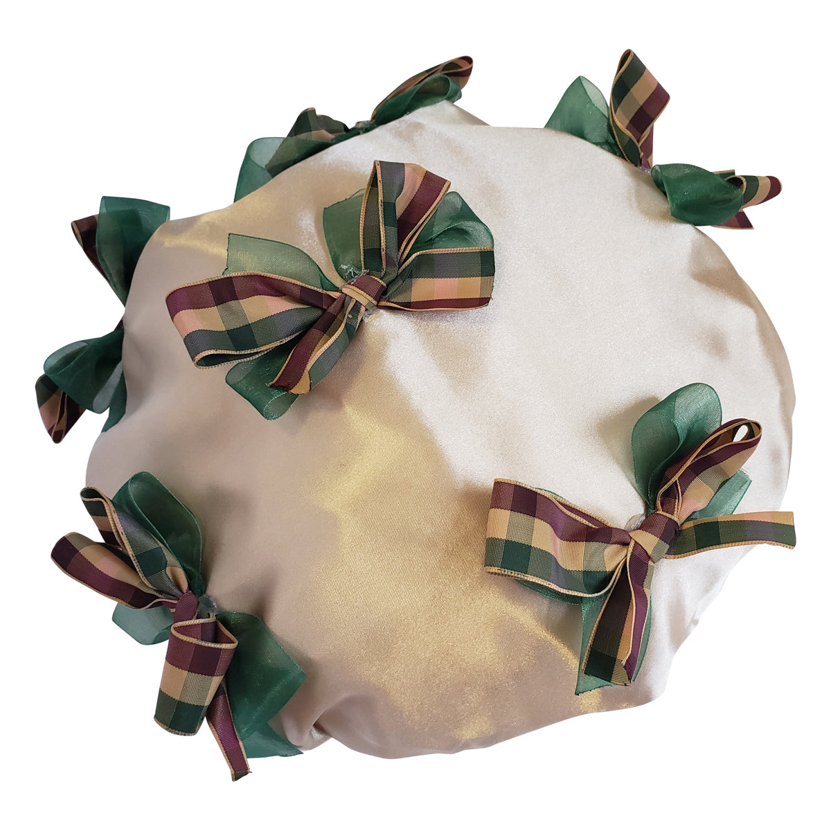 Diva Plaid Designer Shower Cap