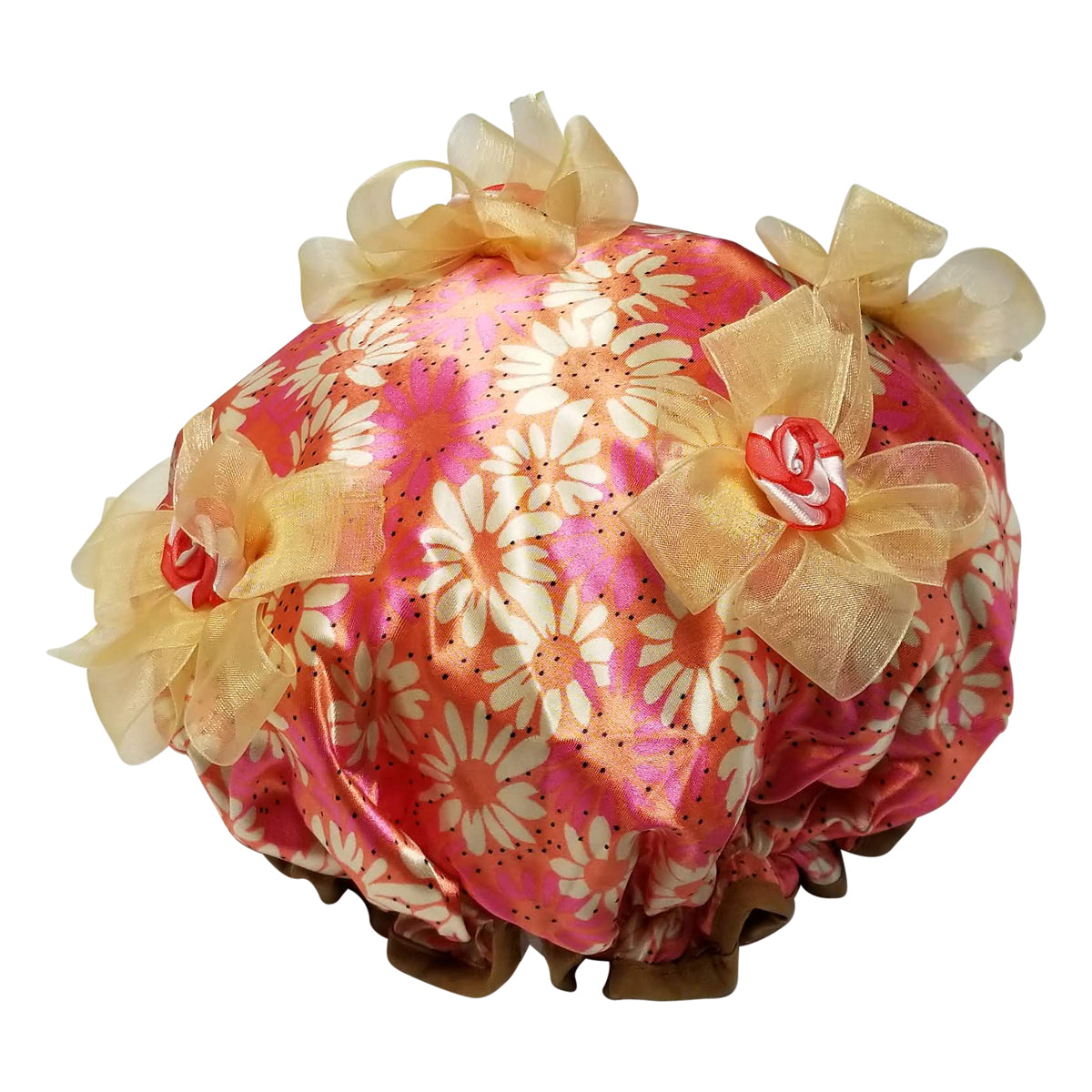 Coral Kiss Designer Shower Cap