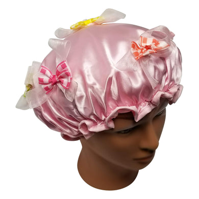 Blooming Blush Designer Shower Cap