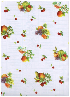 Fancy Fruit White Contact Paper