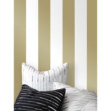 Load image into Gallery viewer, Gold Self-Adhesive Wallpaper Mini Stripe ST601