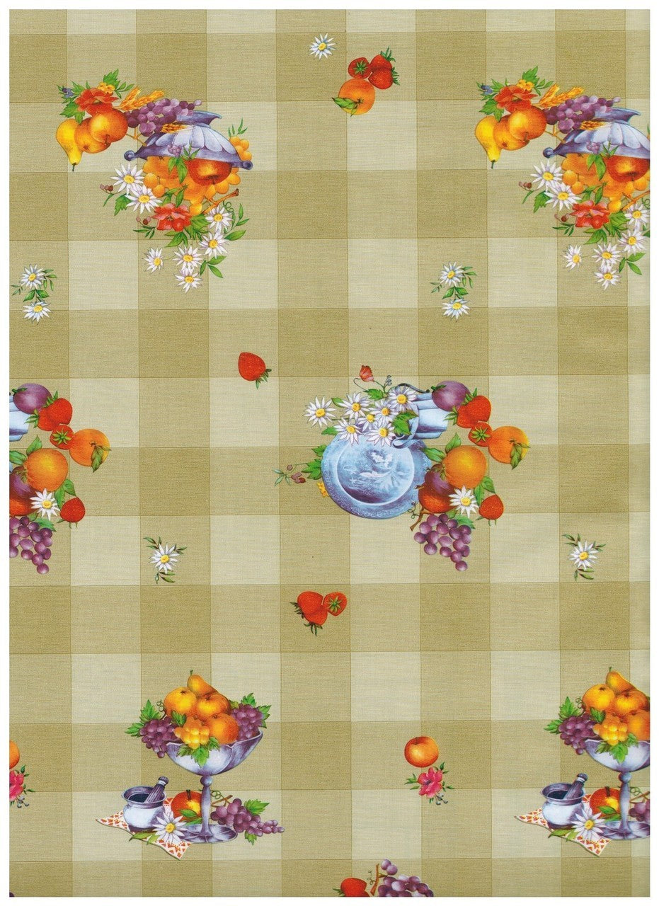 Beige Fruit Check Contact Paper