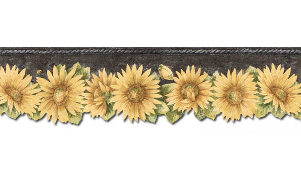 Sunflowers TH29023DB Wallpaper Border