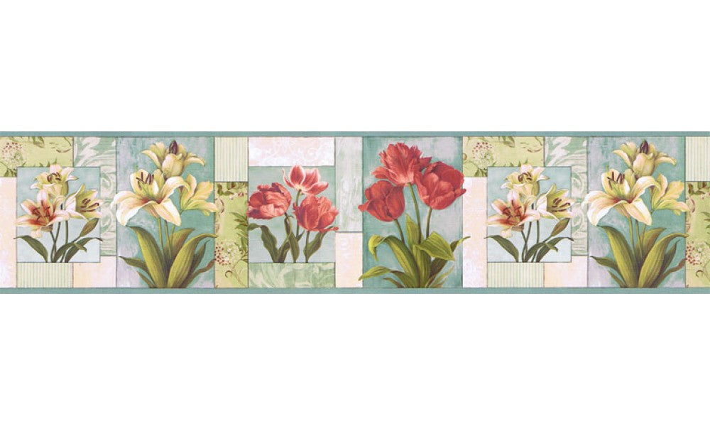 Floral NS7704B Wallpaper Border