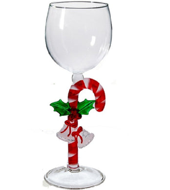 Brown Turtle w/ coral Hand Blown Wine Glass