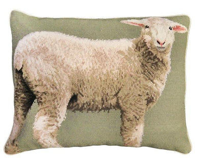 Baby Sheep 16x20 Needlepoint Pillow