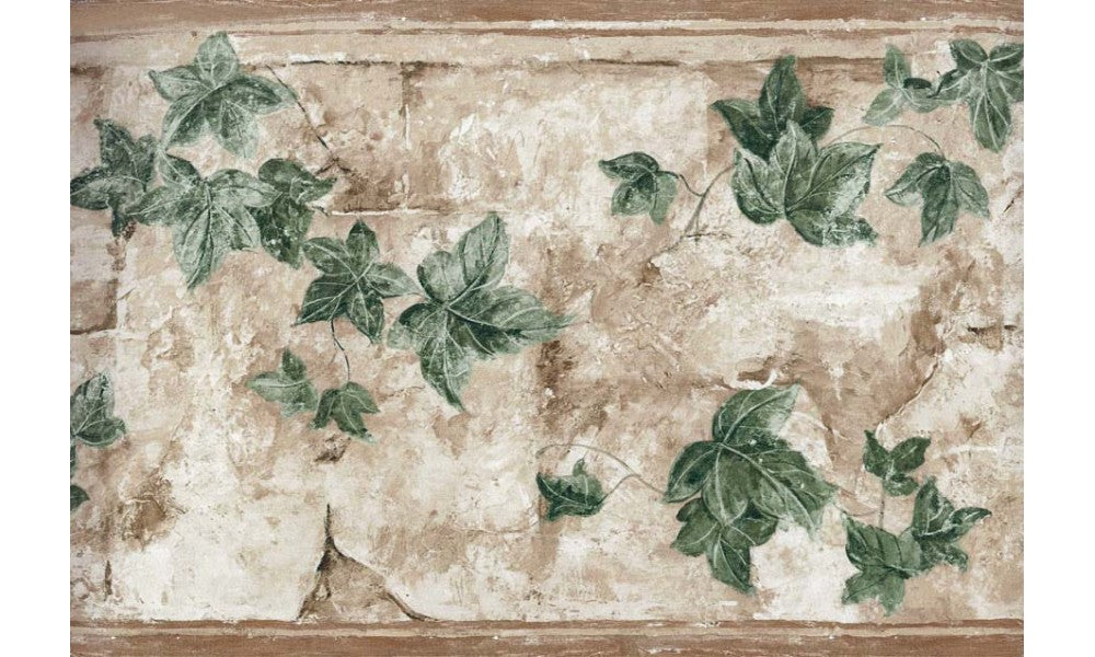 Brown Wall Palm Leaves TK6345 Wallpaper Border