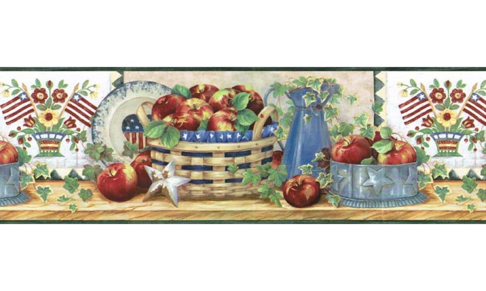 Apple Fruits B11023 Wallpaper Border